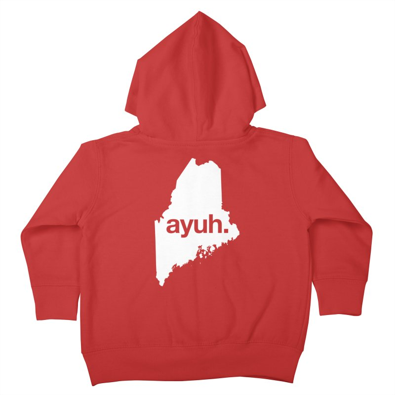 Ayuh - The Maine Word Kids Toddler Zip-Up Hoody by Calobee Doodles