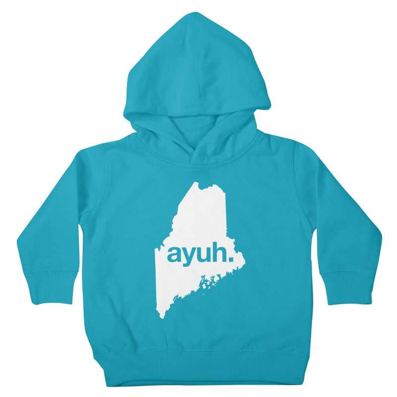 Ayuh - The Maine Word Kids Toddler Pullover Hoody by Calobee Doodles