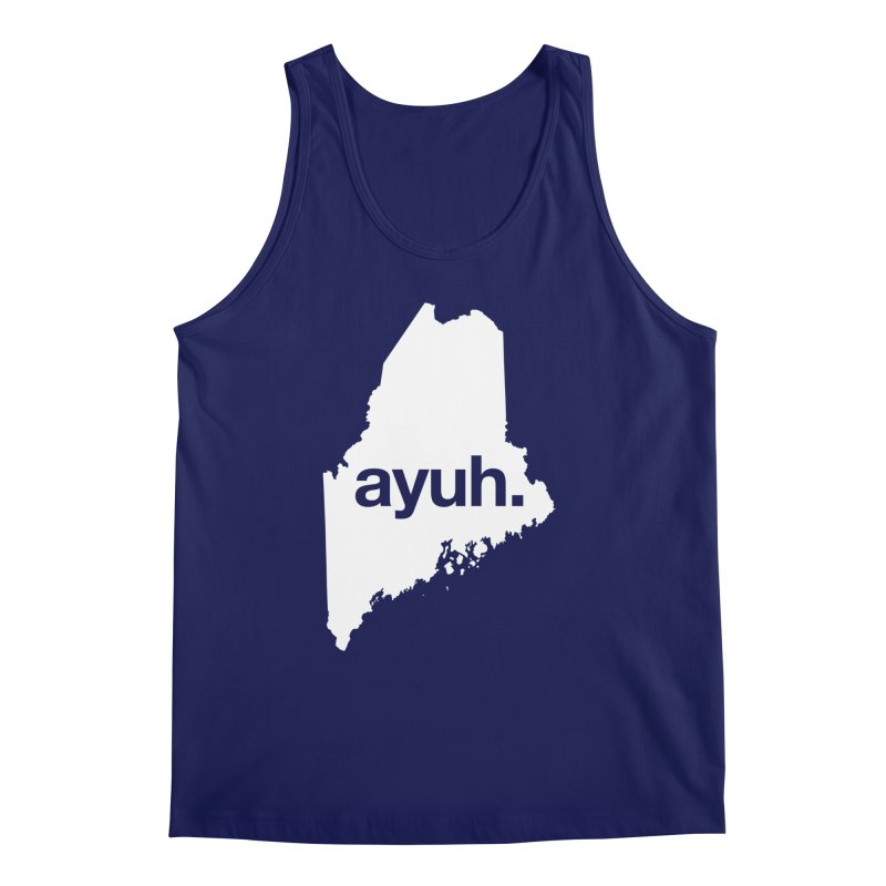 Ayuh - The Maine Word Men's Tank by Calobee Doodles