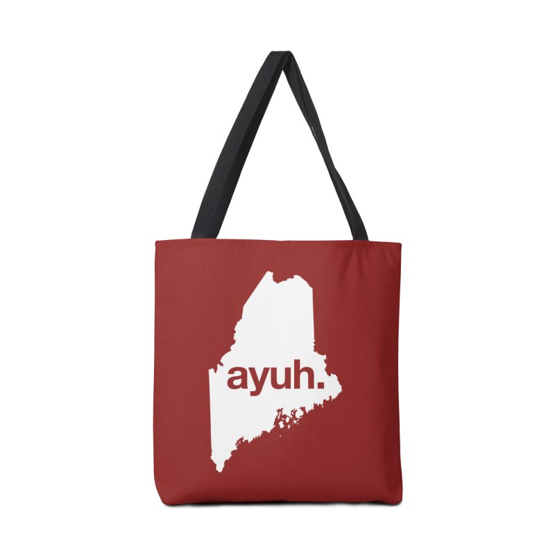 Ayuh - The Maine Word Accessories Bag by Calobee Doodles