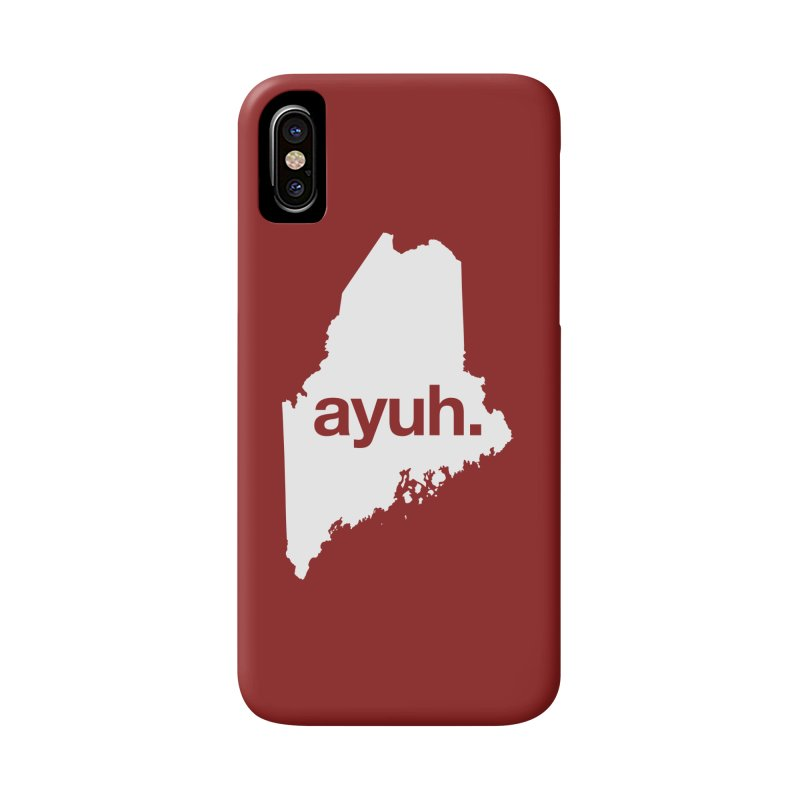 Ayuh - The Maine Word Accessories Phone Case by Calobee Doodles