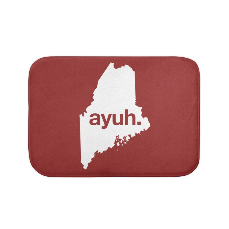 Ayuh - The Maine Word Home Bath Mat by Calobee Doodles