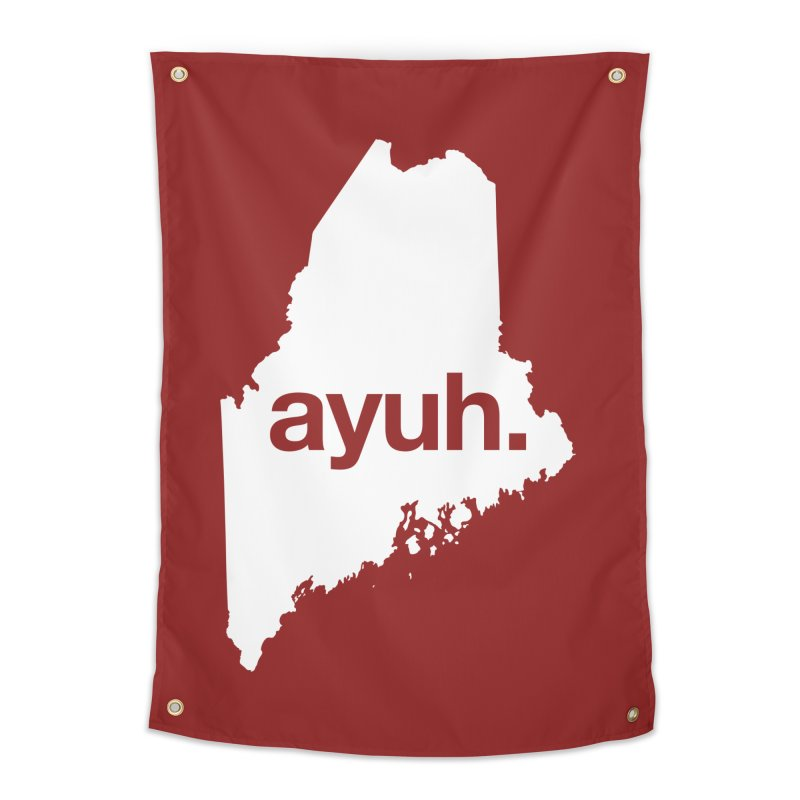 Ayuh - The Maine Word Home Tapestry by Calobee Doodles