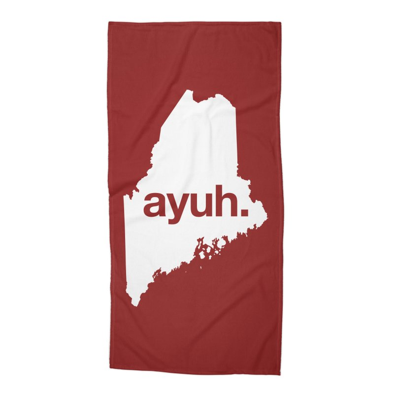 Ayuh - The Maine Word Accessories Beach Towel by Calobee Doodles