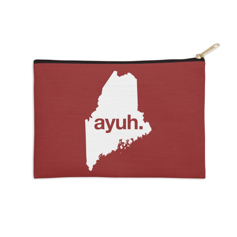 Ayuh - The Maine Word Accessories Zip Pouch by Calobee Doodles