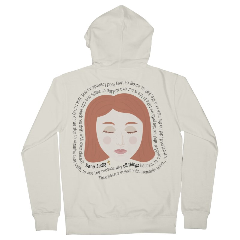 Dana Scully - The X-Files Quote - all things Men's Zip-Up Hoody by Calobee Doodles
