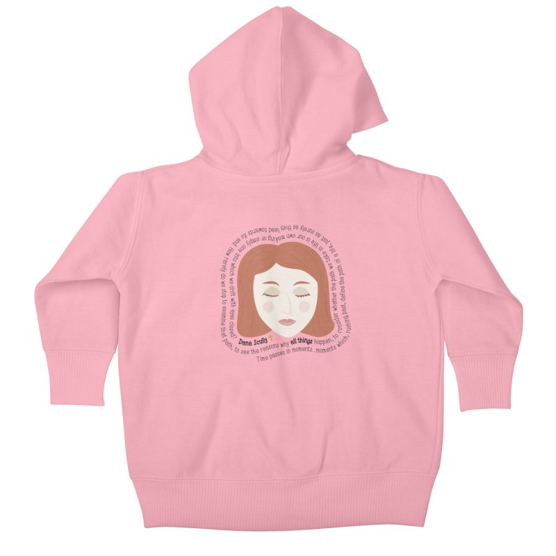 Dana Scully - The X-Files Quote - all things Kids Baby Zip-Up Hoody by Calobee Doodles