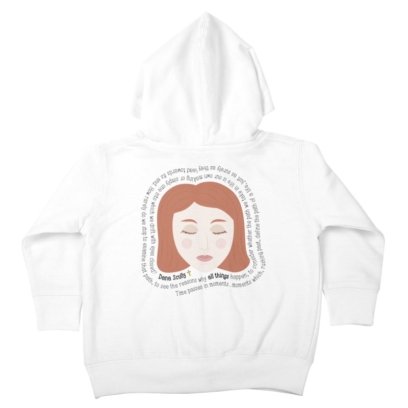 Dana Scully - The X-Files Quote - all things Kids Toddler Zip-Up Hoody by Calobee Doodles