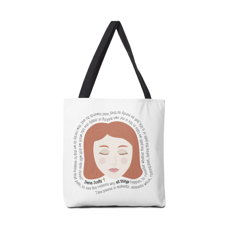Dana Scully - The X-Files Quote - all things Accessories Bag by Calobee Doodles