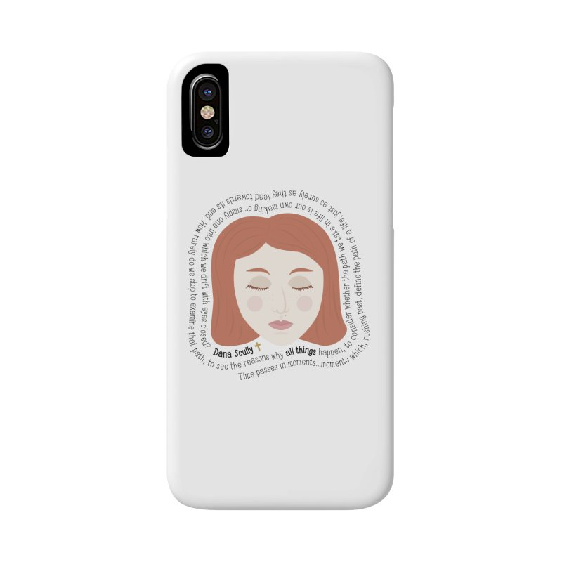 Dana Scully - The X-Files Quote - all things Accessories Phone Case by Calobee Doodles