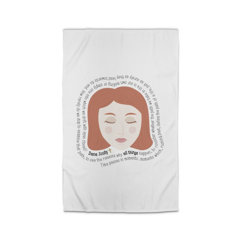 Dana Scully - The X-Files Quote - all things Home Rug by Calobee Doodles