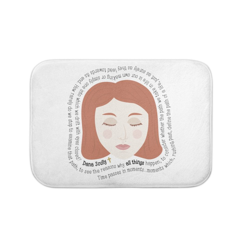 Dana Scully - The X-Files Quote - all things Home Bath Mat by Calobee Doodles