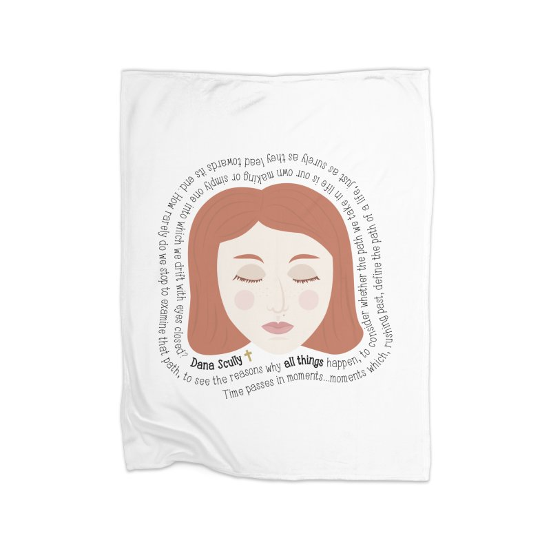 Dana Scully - The X-Files Quote - all things Home Blanket by Calobee Doodles