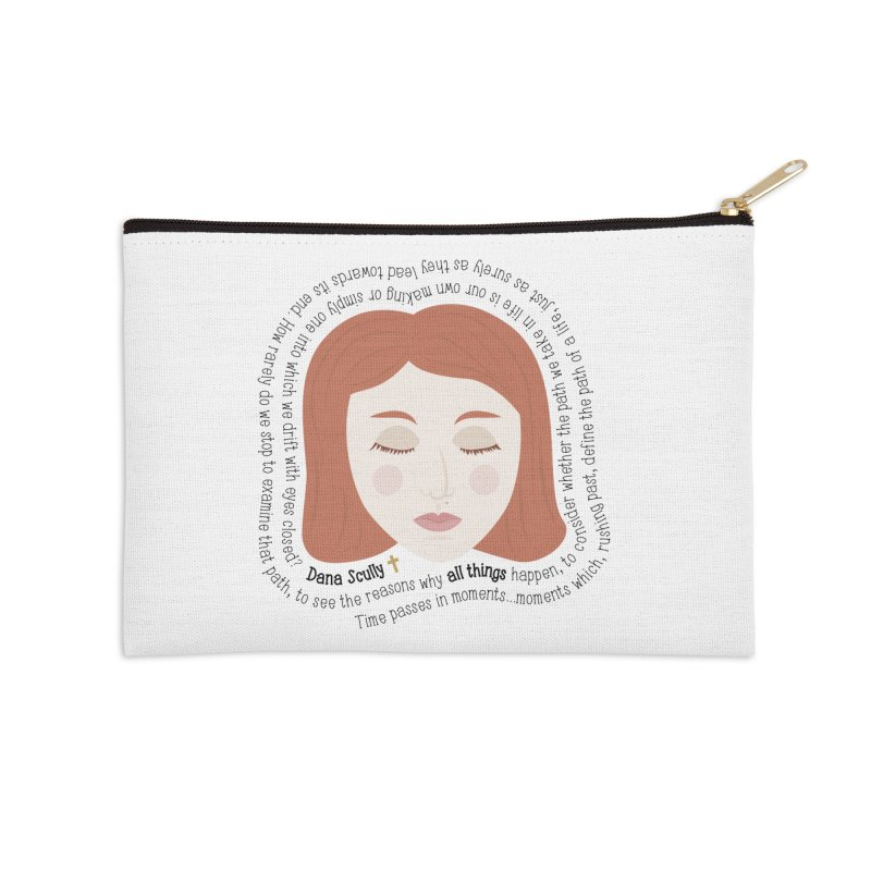 Dana Scully - The X-Files Quote - all things Accessories Zip Pouch by Calobee Doodles