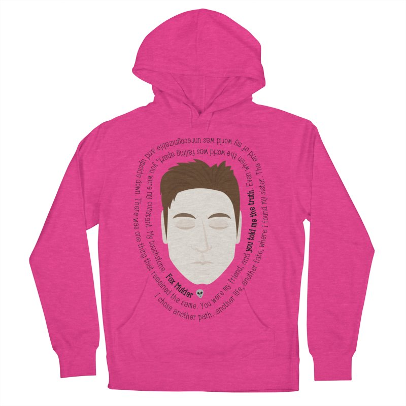 Fox Mulder - The X-Files Quote Women's Pullover Hoody by Calobee Doodles
