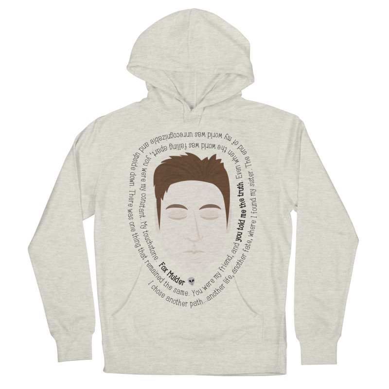 Fox Mulder - The X-Files Quote Men's Pullover Hoody by Calobee Doodles