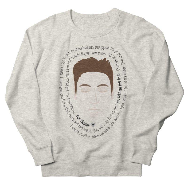Fox Mulder - The X-Files Quote Men's Sweatshirt by Calobee Doodles