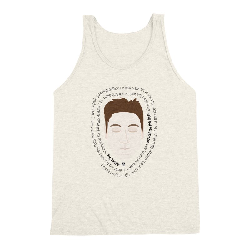 Fox Mulder - The X-Files Quote Men's Triblend Tank by Calobee Doodles