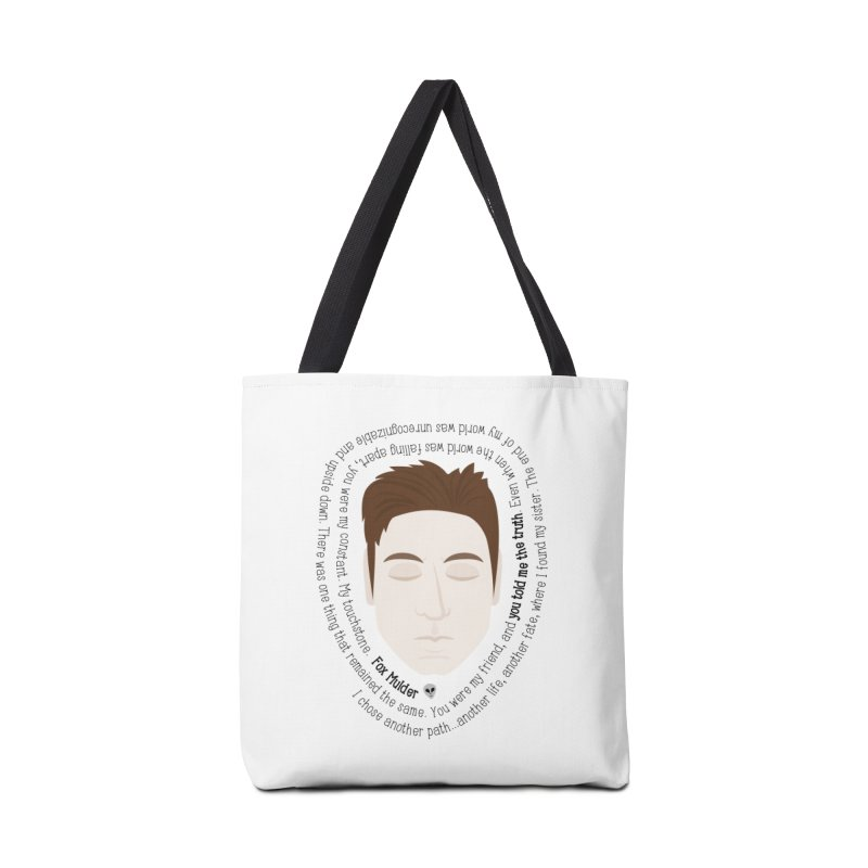 Fox Mulder - The X-Files Quote Accessories Bag by Calobee Doodles