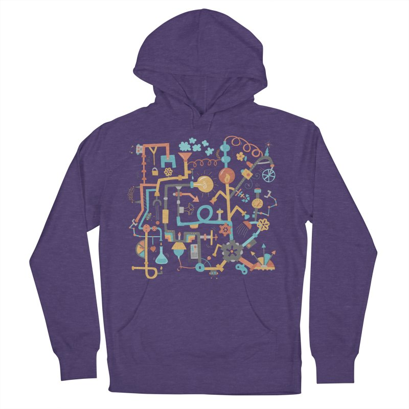 Pipe Dreams Women's French Terry Pullover Hoody by Calobee Doodles