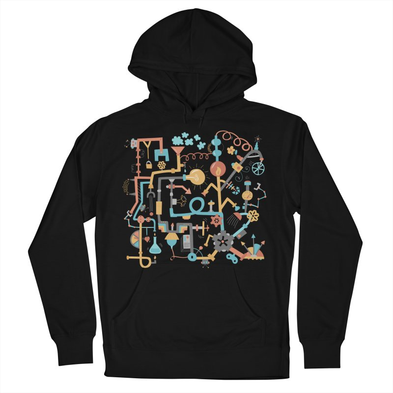 Pipe Dreams Men's French Terry Pullover Hoody by Calobee Doodles