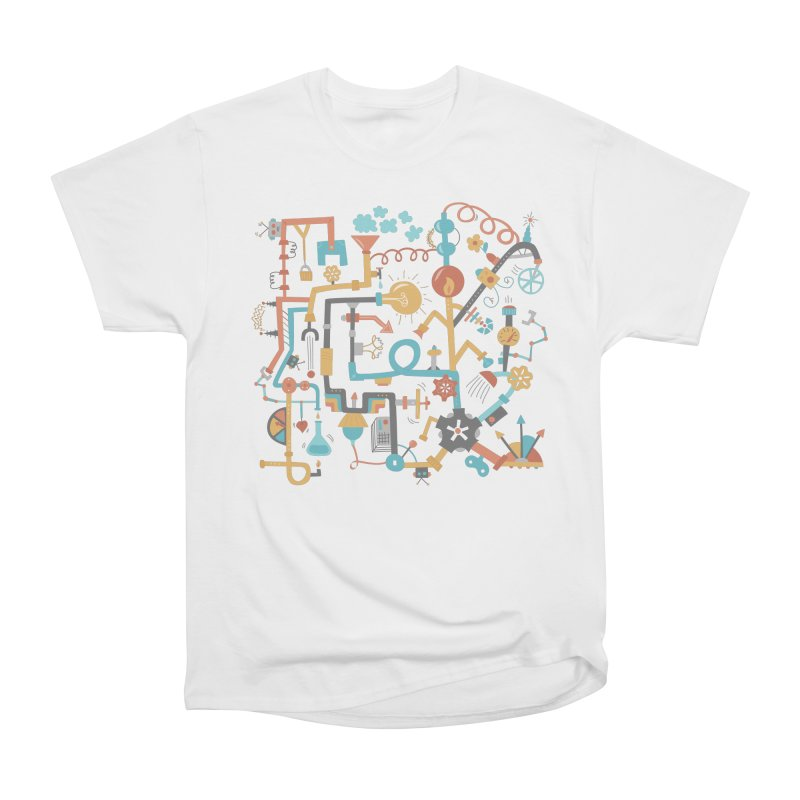 Pipe Dreams Men's Heavyweight T-Shirt by Calobee Doodles