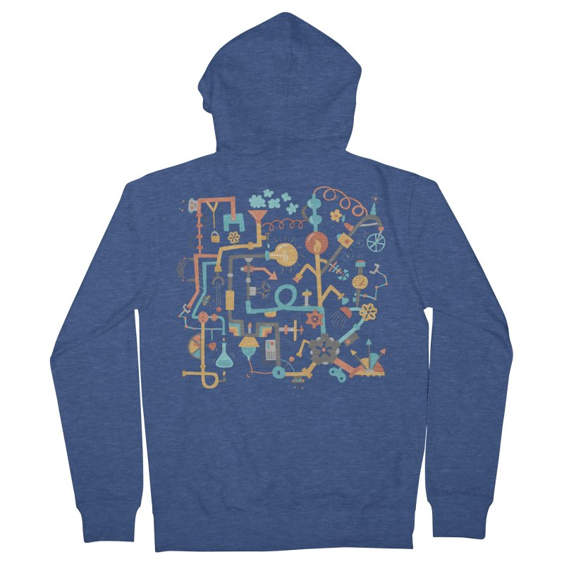 Pipe Dreams Women's French Terry Zip-Up Hoody by Calobee Doodles
