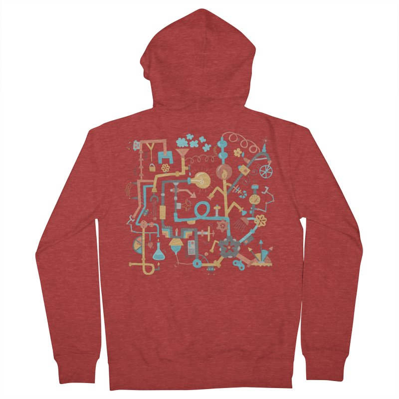 Pipe Dreams Men's Zip-Up Hoody by Calobee Doodles