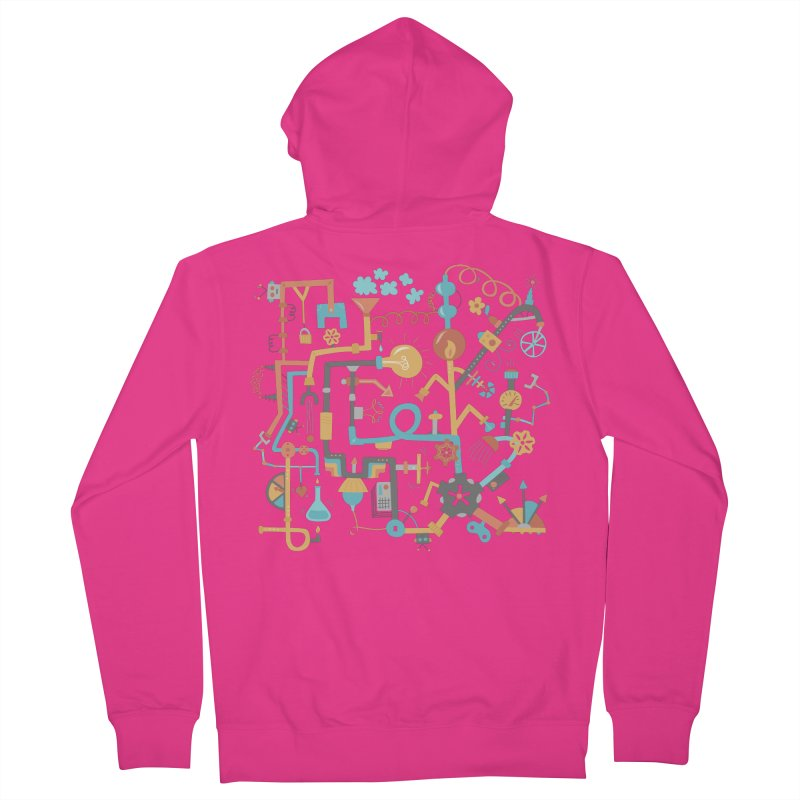 Pipe Dreams Men's French Terry Zip-Up Hoody by Calobee Doodles