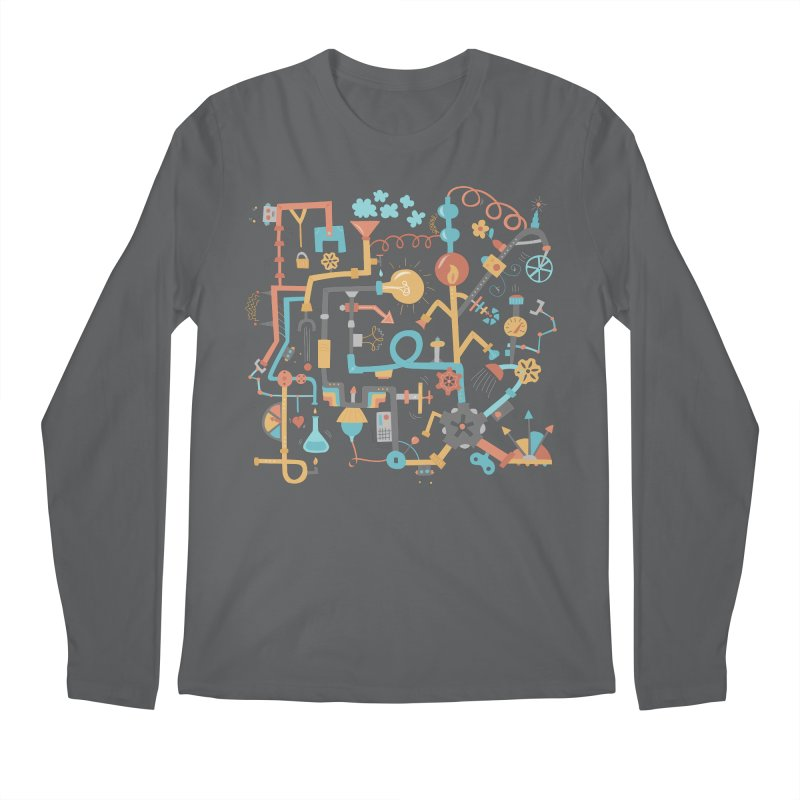 Pipe Dreams Men's Regular Longsleeve T-Shirt by Calobee Doodles