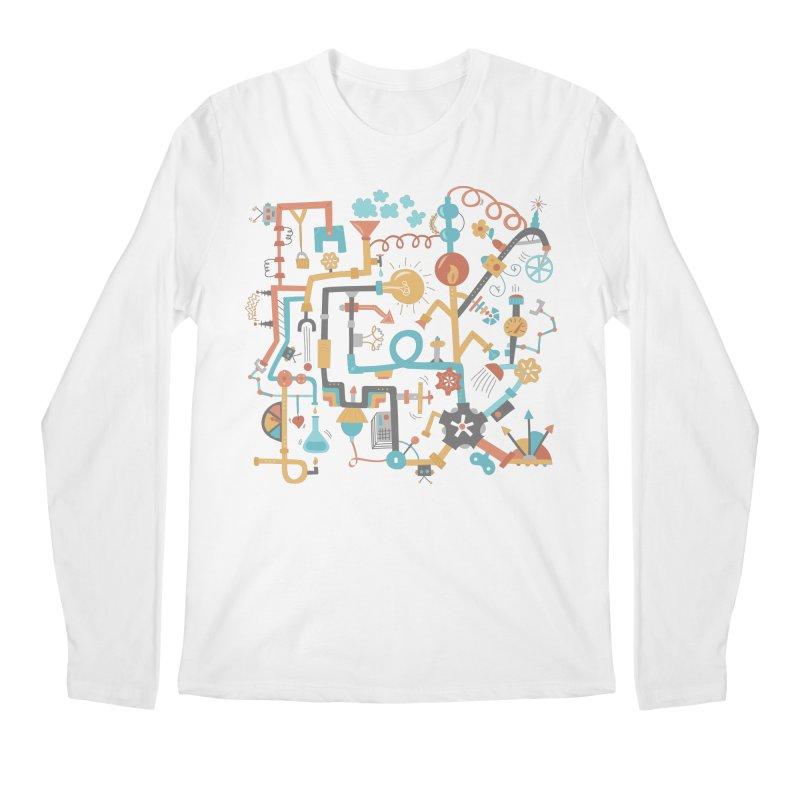 Pipe Dreams Men's Regular Longsleeve T-Shirt by Calobee Doodles