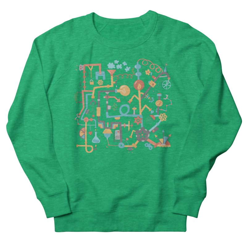 Pipe Dreams Men's French Terry Sweatshirt by Calobee Doodles