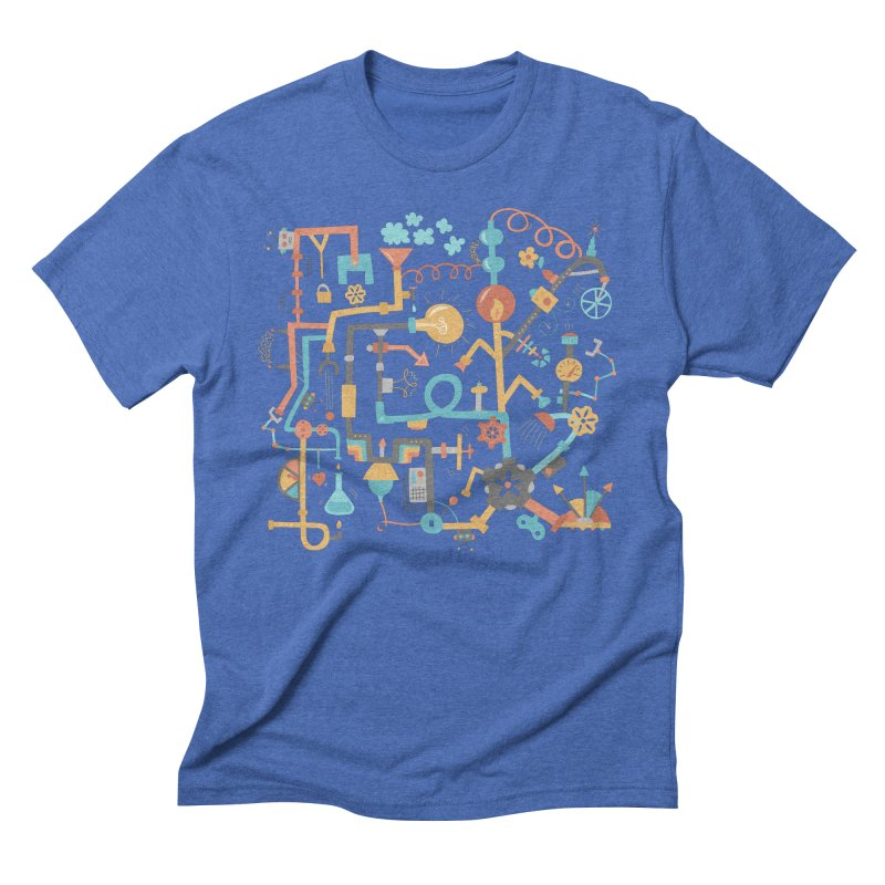 Pipe Dreams Men's Triblend T-Shirt by Calobee Doodles