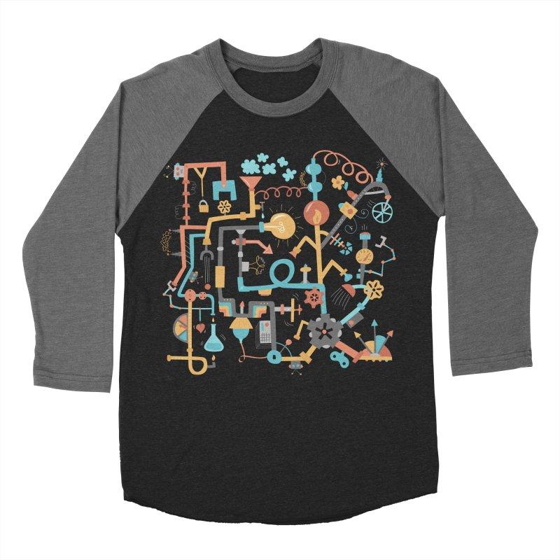 Pipe Dreams Men's Baseball Triblend Longsleeve T-Shirt by Calobee Doodles