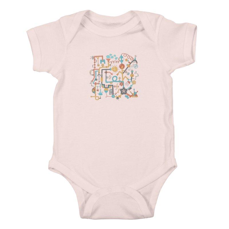 Pipe Dreams Kids Baby Bodysuit by Calobee Doodles