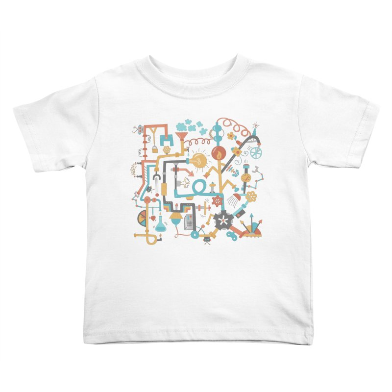Pipe Dreams Kids Toddler T-Shirt by Calobee Doodles