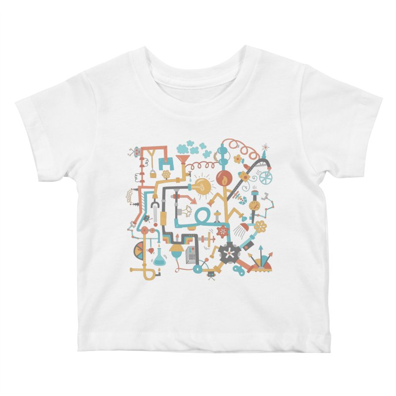 Pipe Dreams Kids Baby T-Shirt by Calobee Doodles