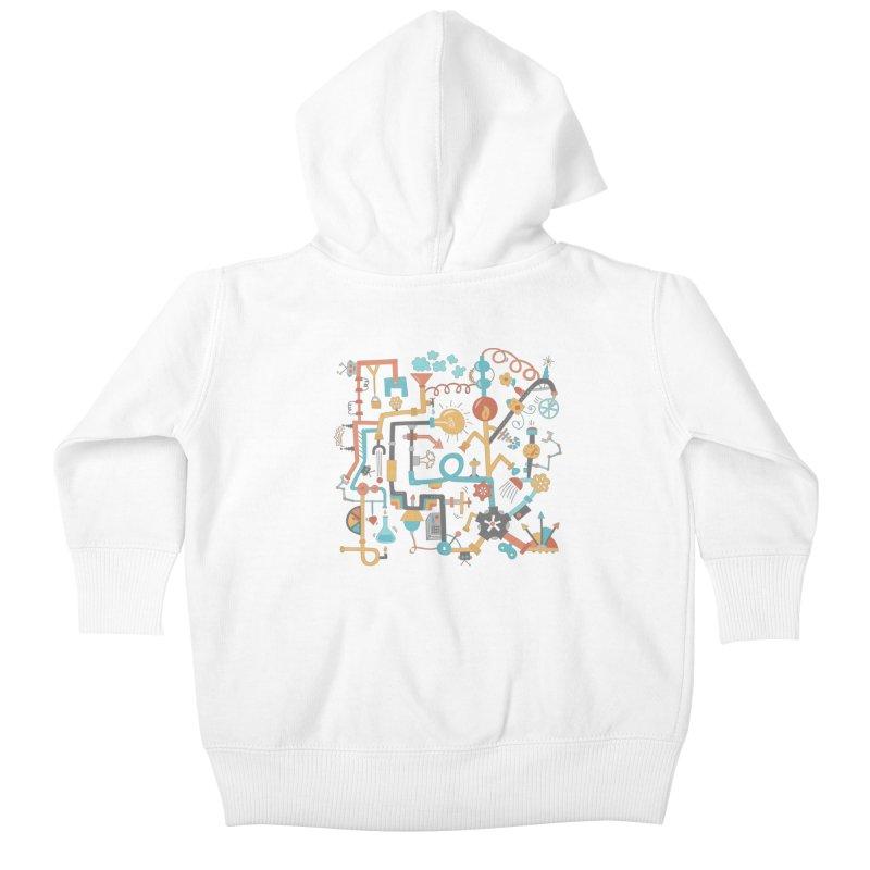 Pipe Dreams Kids Baby Zip-Up Hoody by Calobee Doodles