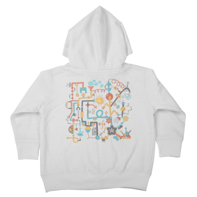 Pipe Dreams Kids Toddler Zip-Up Hoody by Calobee Doodles