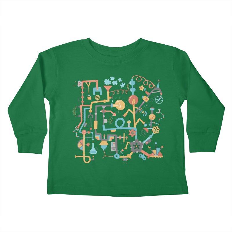 Pipe Dreams Kids Toddler Longsleeve T-Shirt by Calobee Doodles