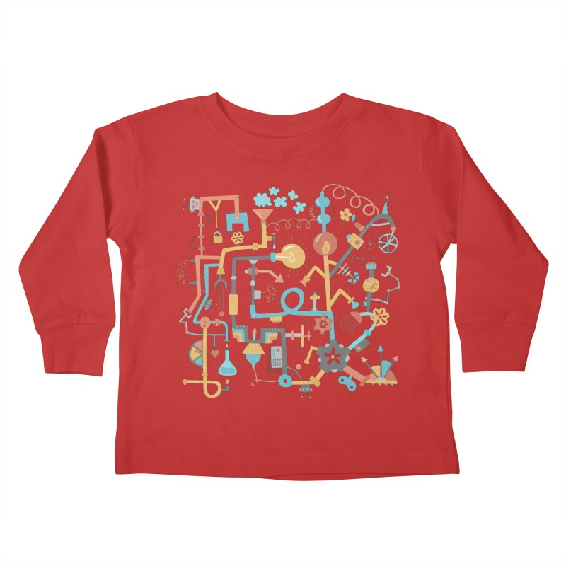 Pipe Dreams Kids Toddler Longsleeve T-Shirt by Calobee Doodles