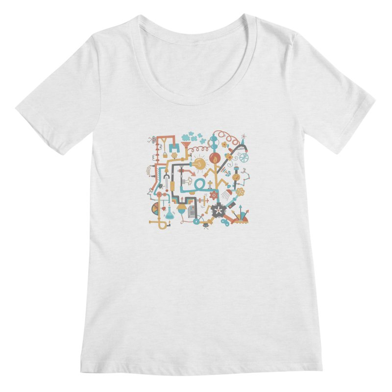 Pipe Dreams Women's Scoopneck by Calobee Doodles