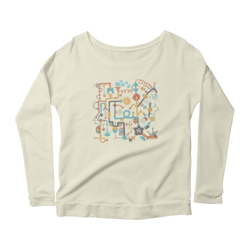 Pipe Dreams Women's Longsleeve Scoopneck  by Calobee Doodles
