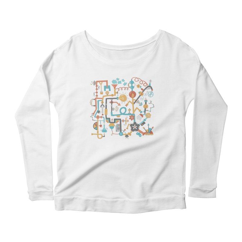 Pipe Dreams Women's Scoop Neck Longsleeve T-Shirt by Calobee Doodles