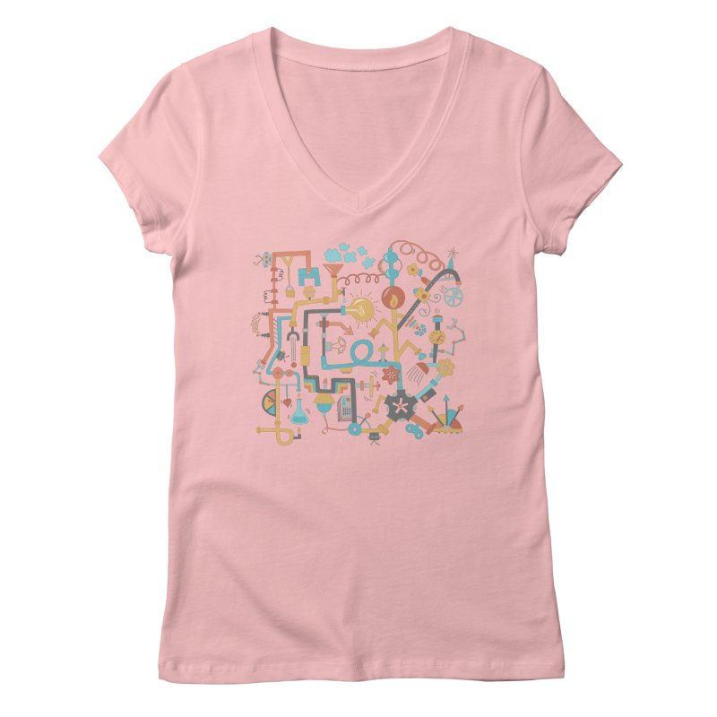 Pipe Dreams Women's V-Neck by Calobee Doodles