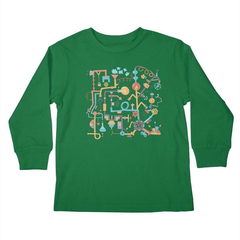 Pipe Dreams Kids Longsleeve T-Shirt by Calobee Doodles