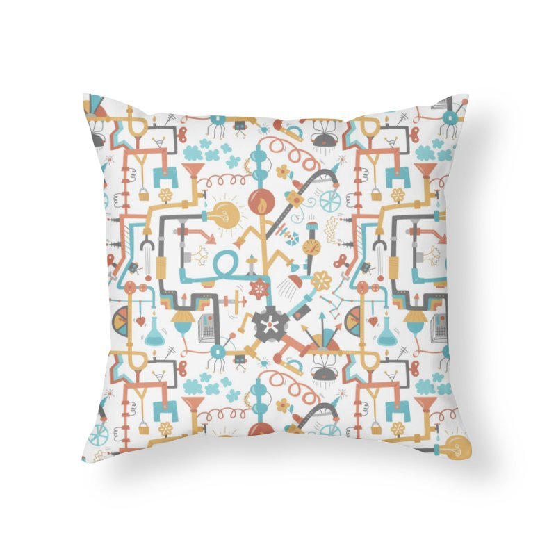 Pipe Dreams Home Throw Pillow by Calobee Doodles