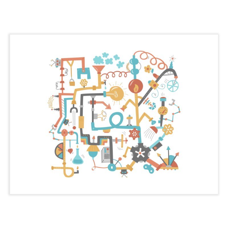 Pipe Dreams Home Fine Art Print by Calobee Doodles