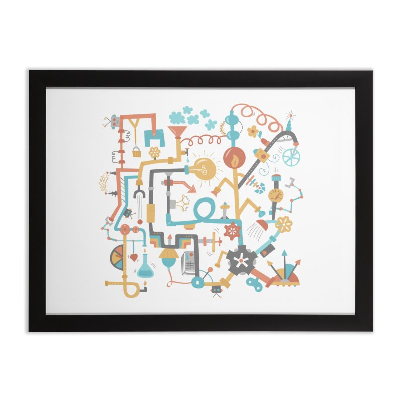 Pipe Dreams Home Framed Fine Art Print by Calobee Doodles