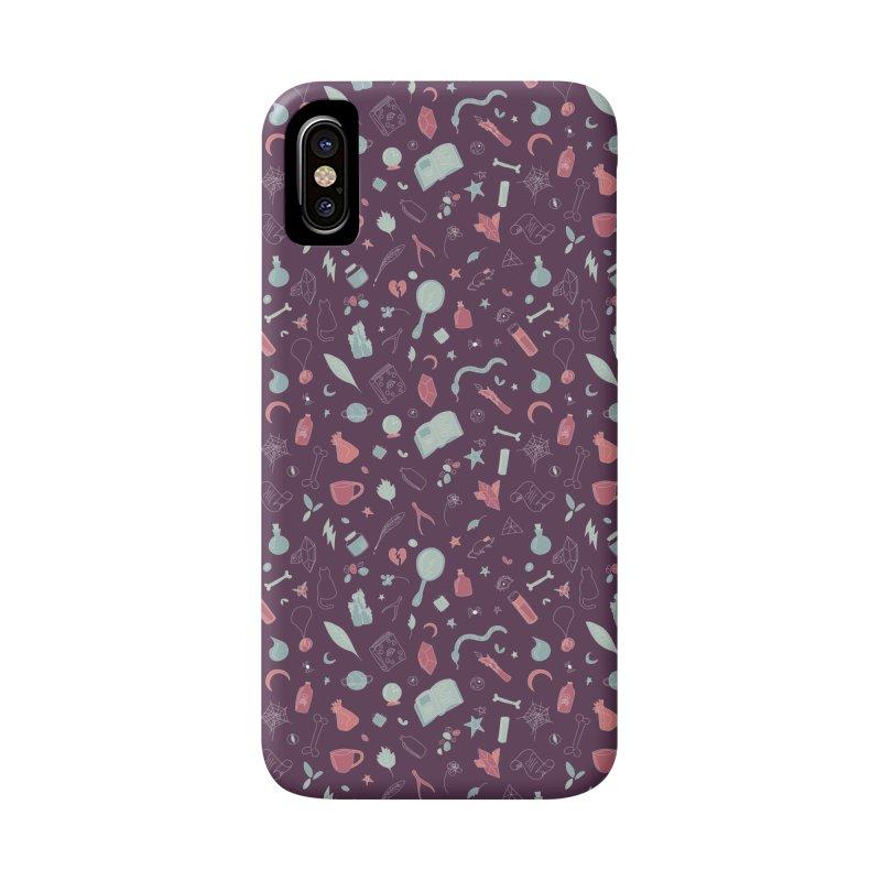 Hocus Pocus - Purple & Mint Accessories Phone Case by Calobee Doodles